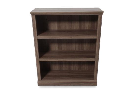 Contemporary Adjustable Shelf Open Bookcase in Medium Brown