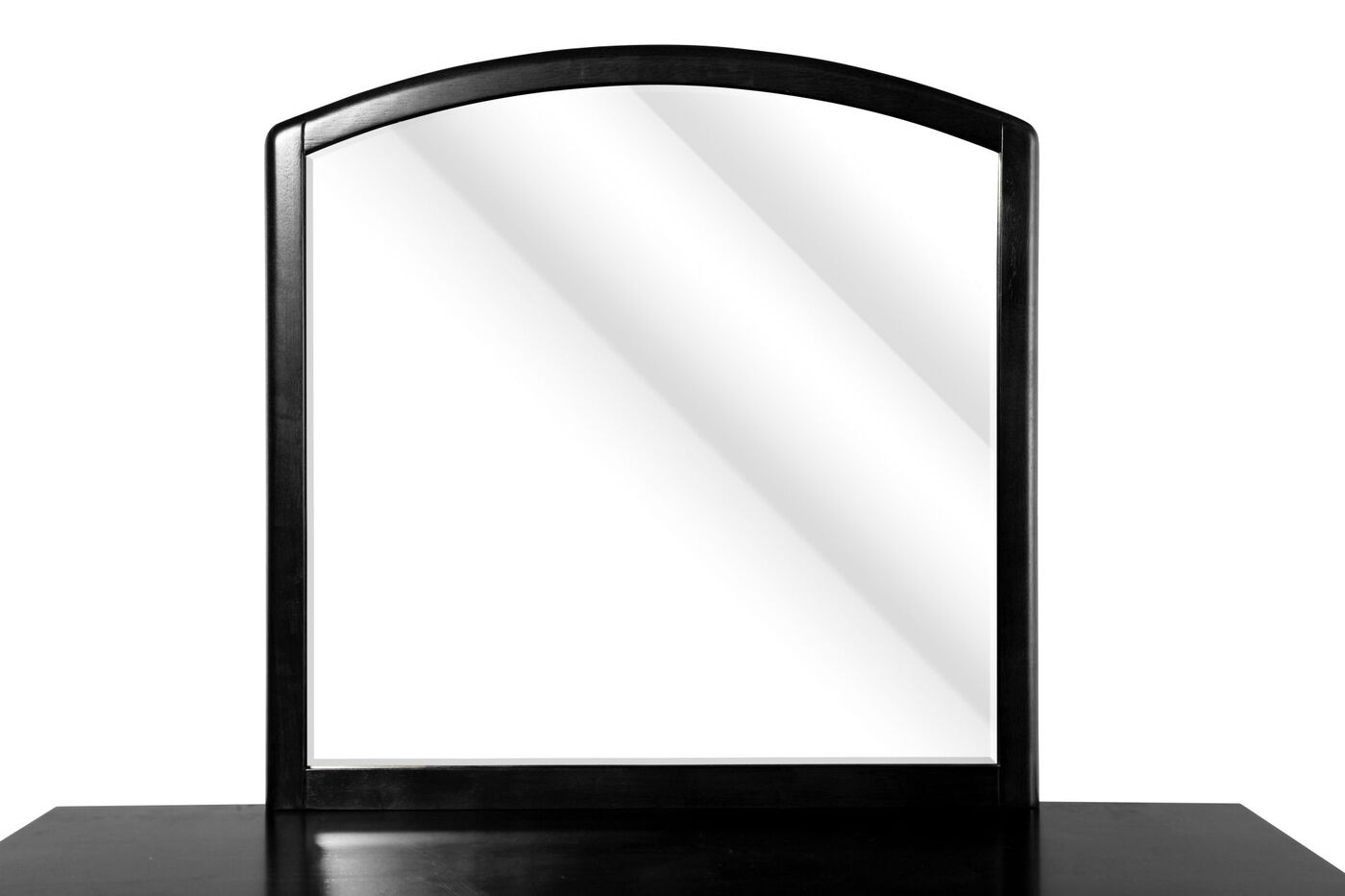 Arched Country Youth Mirror In Black Mathis Brothers