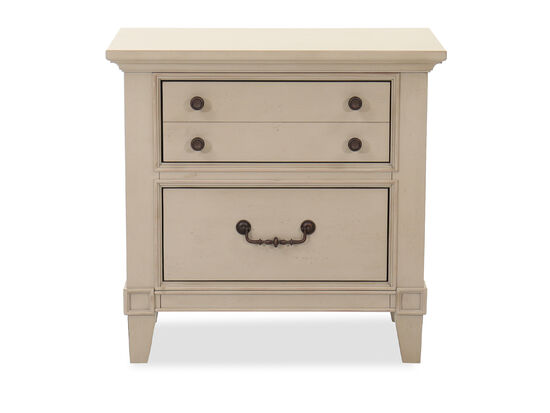 """29"""" Transitional Two-Drawer Nightstand in Gray"""