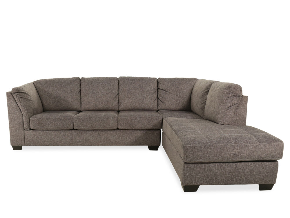Two-Piece Contemporary Sectional in Gray