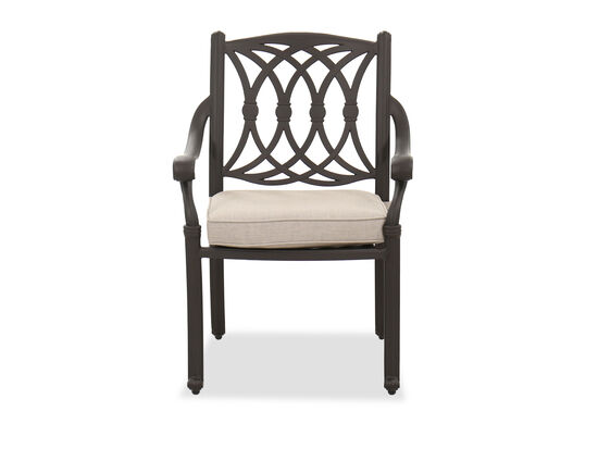 Traditional Patio Dining Chair in Brown
