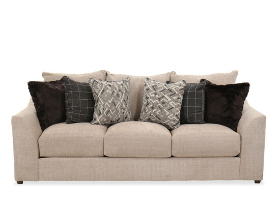 """Casual 92"""" Sofa in Marble"""