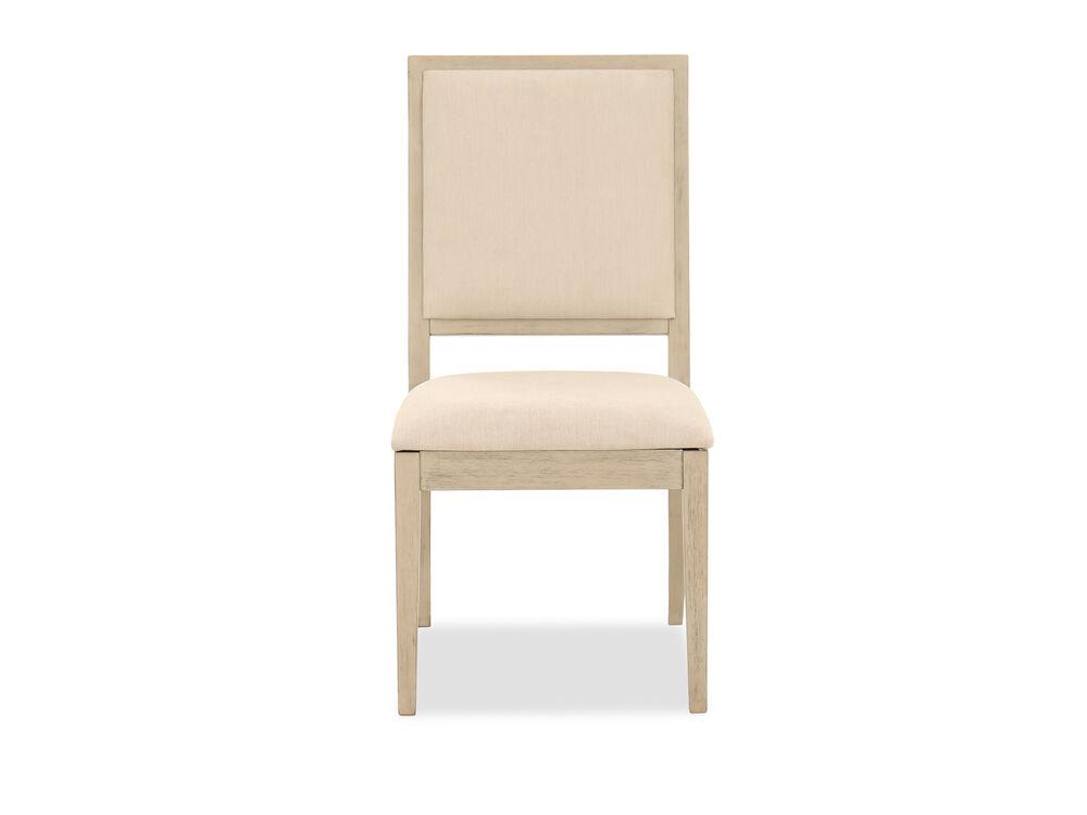 "Casual 38"" Side Chair in Beige"