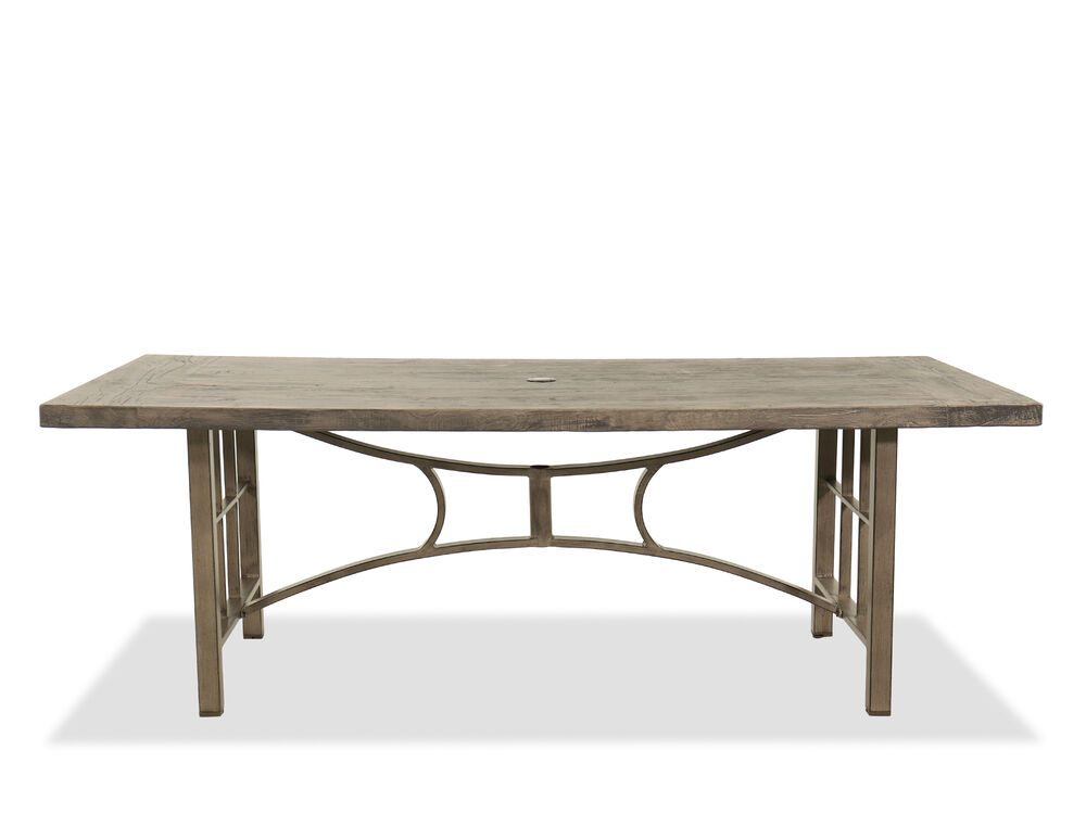 Casual Rectangular Patio Table In Brown
