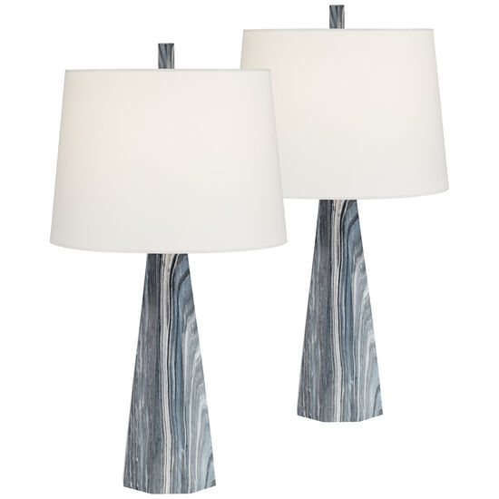Poly Marble Lamp Set