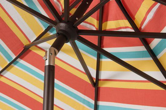 Casual Striped Auto Tilt Umbrella