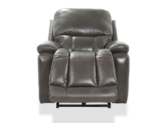 """39"""" Leather Rocking Recliner in Black"""