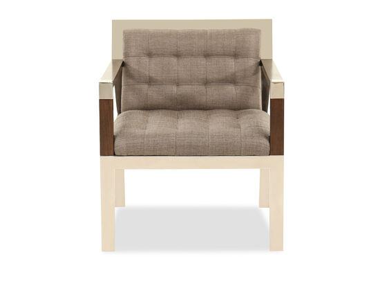"Biscuit-Tufted Modern 26"" Chair in Dark Gray"