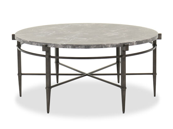 Casual Round Cocktail Table in Dark Gray