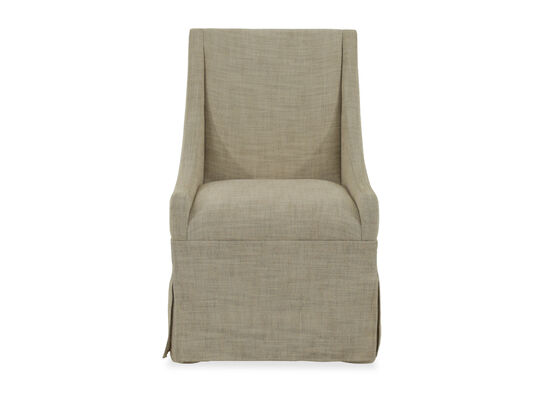 "Traditional 37"" Castered Dining Chair in Beige"