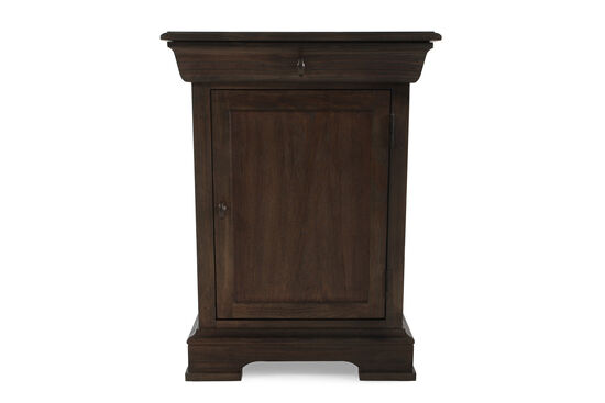 "30"" Casual Textured One-Door Nightstand in Foxtail"