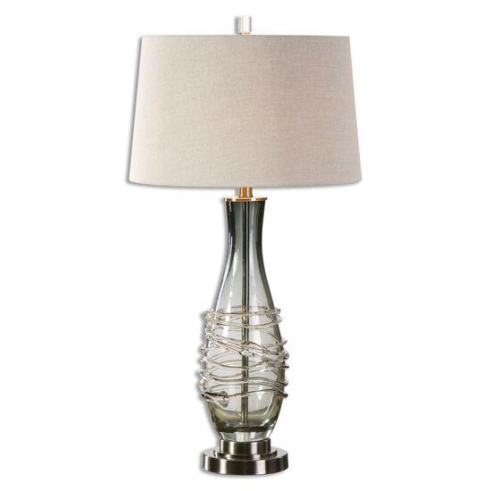 Layered Table Lampin Charcoal Gray