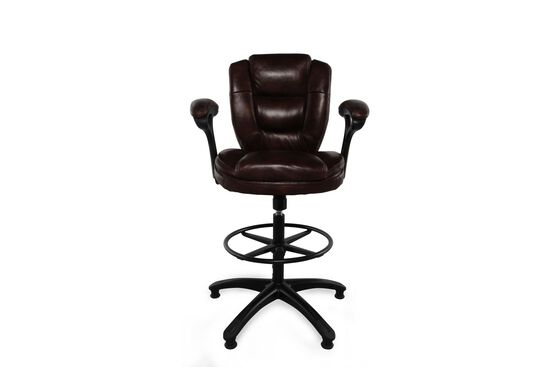 Height Adjustable Swivel Stool in Deep Maroon