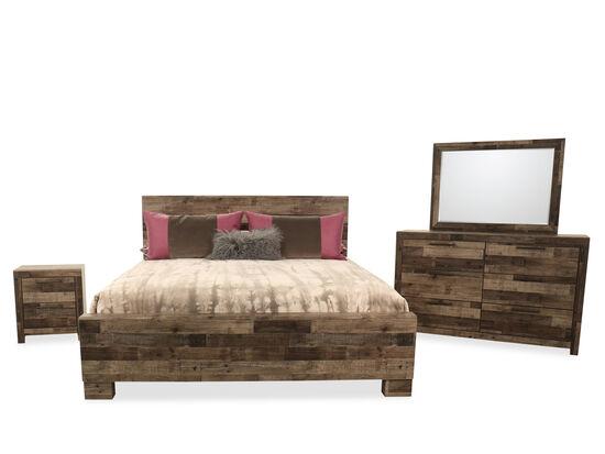 Four-Piece Contemporary Queen Bedroom Suite in Gray