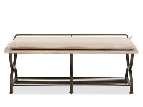 """Casual 20"""" Bed Bench in Beige"""