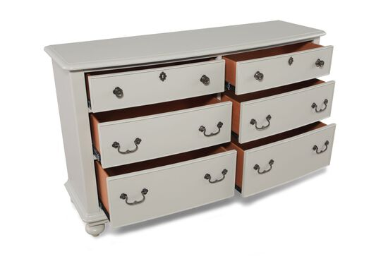 Six-Drawer Youth Dresser in Light Gray