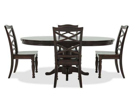 Kitchen Dining Sets Round Table Dining room sets kitchen furniture mathis brothers five piece traditional round extension 483939 workwithnaturefo