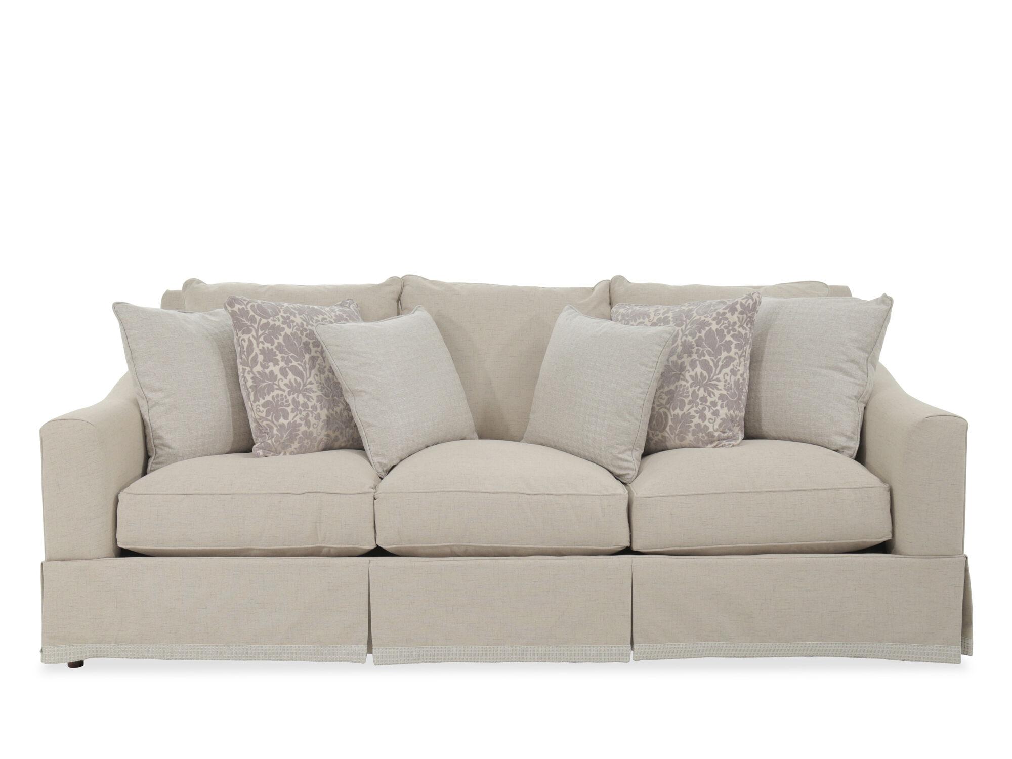 Beau Images Traditional 98u0026quot; Skirted Sofa ...
