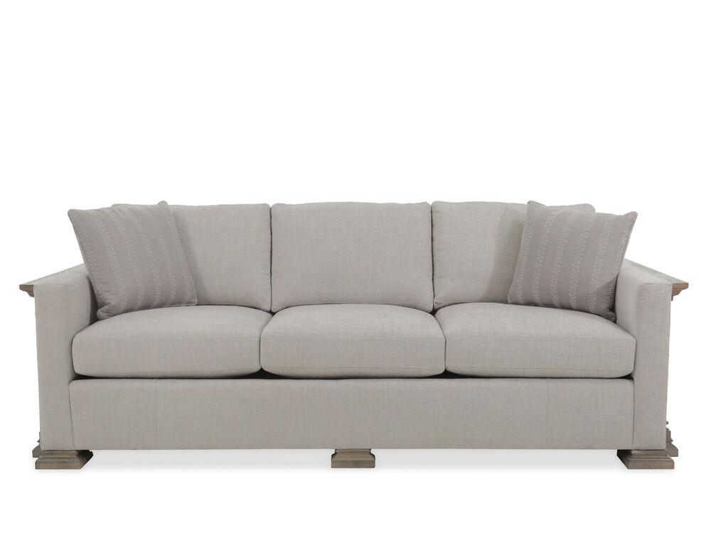 """Modern 94"""" Sofa in Light Gray"""