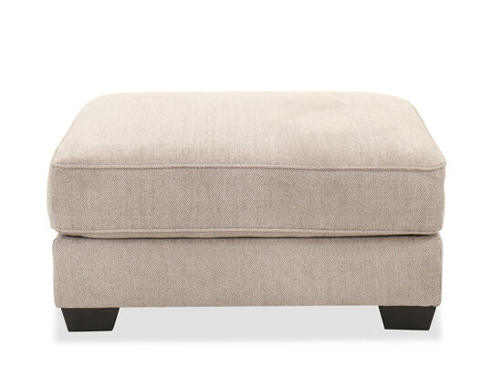 Oversized Contemporary 42'' Ottoman in Pewter