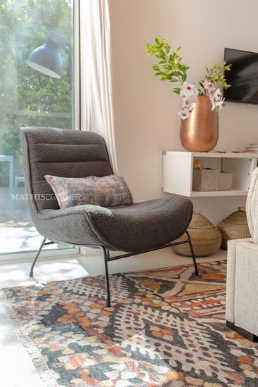Casual Accent Chair in Gray