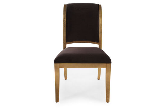 Glam 37'' Side Chair in Dark Brown