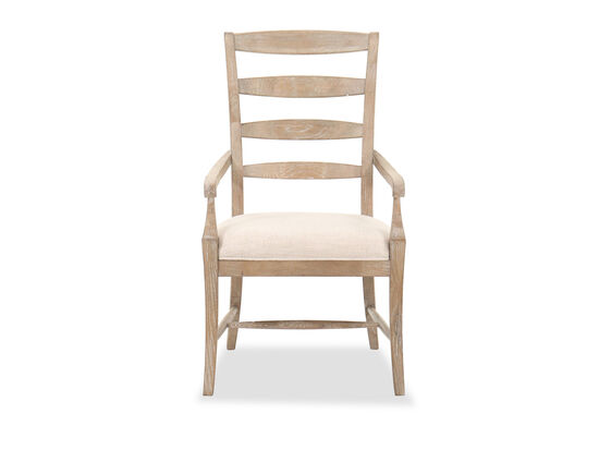 """Casual 41.5"""" Ladder-Back Dining Chair in Beige"""