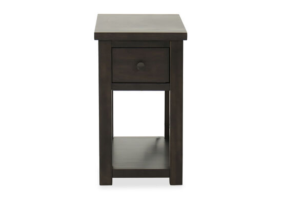 Traditional Chairside Table in Weathered Brown