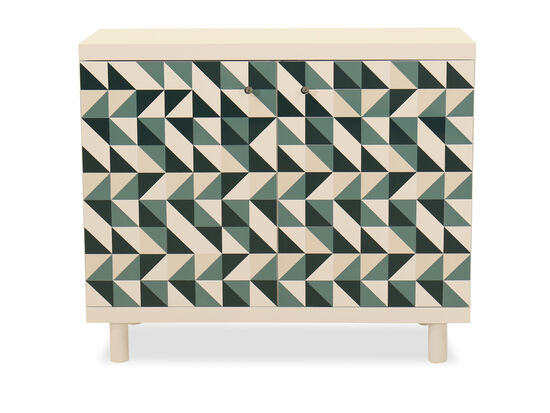 "34"" Abstract-Patterned Two-Door Chest"