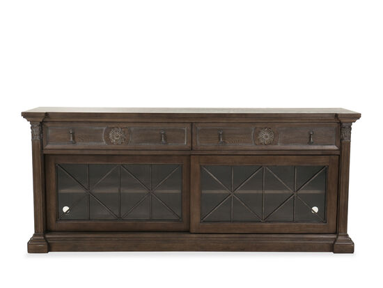 X-Brace Traditional Entertainment Console in Walnut