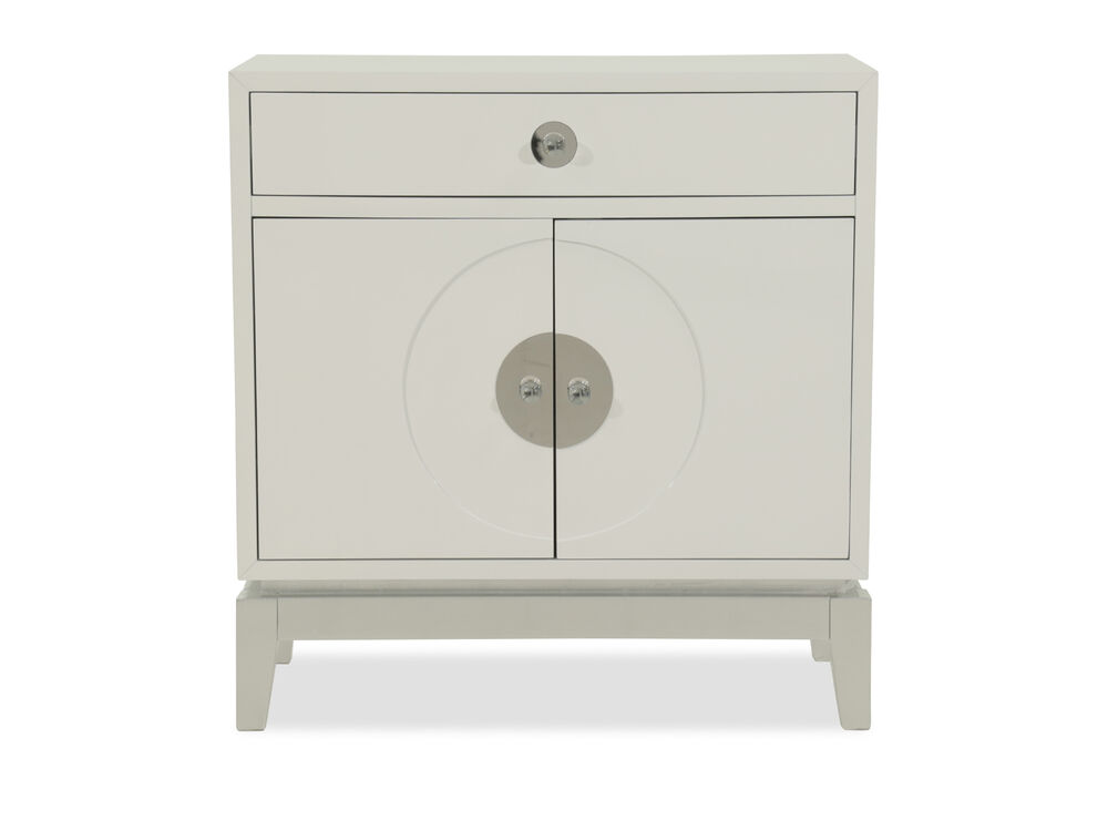 35'' Top Drawer Casual Accent Cabinet in Light Gray