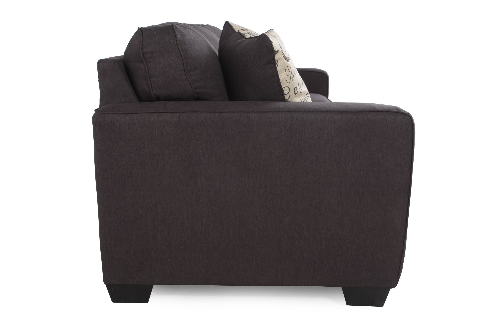 Low Profile Casual 84 Sofa In Charcoal Mathis Brothers Furniture