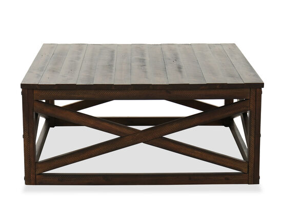 Contemporary Square Cocktail Table in Rustic Burley