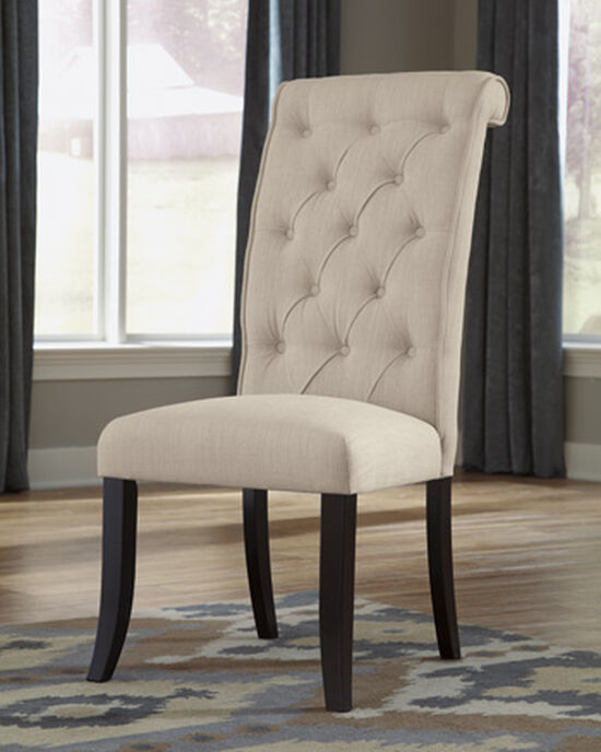 """Contemporary 20"""" Upholstered Side Dining Chair in Linen"""