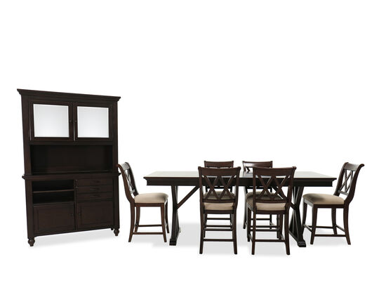 Nine-Piece Casual Dining Set in Amber