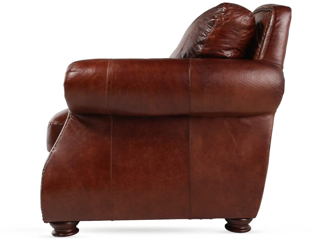 Brandy Leather Sofa Living Room