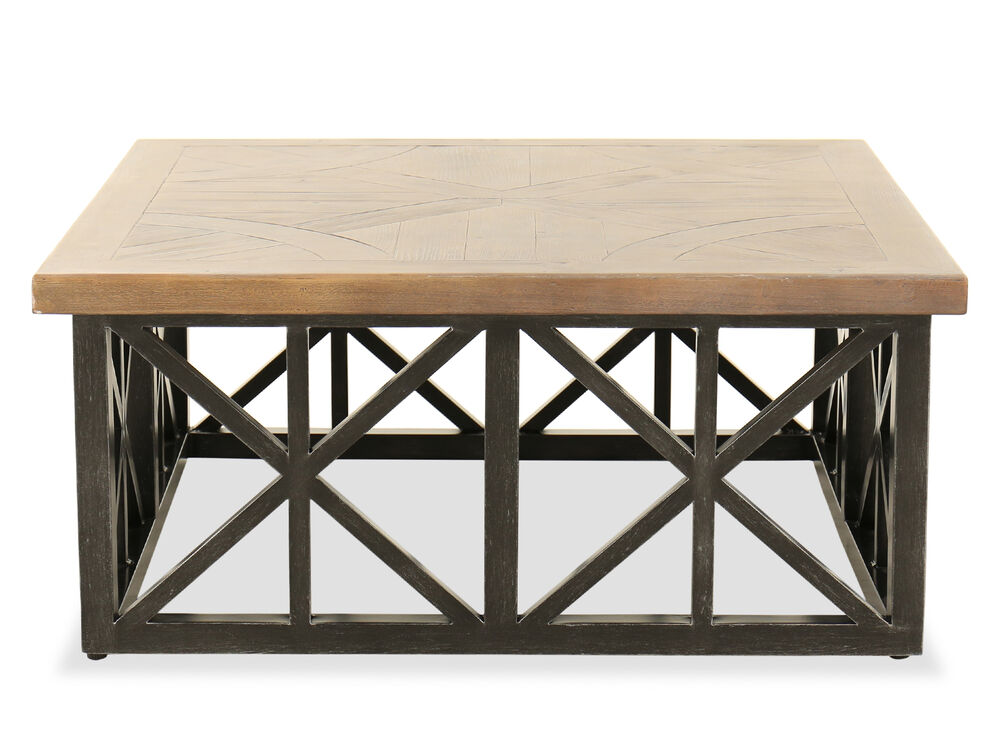 Aluminum Square Coffee Table in Black
