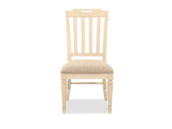 40'' Slat Back Side Chair in Vintage Linen