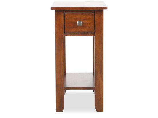 One-Drawer Chairside Table in Dark Oak