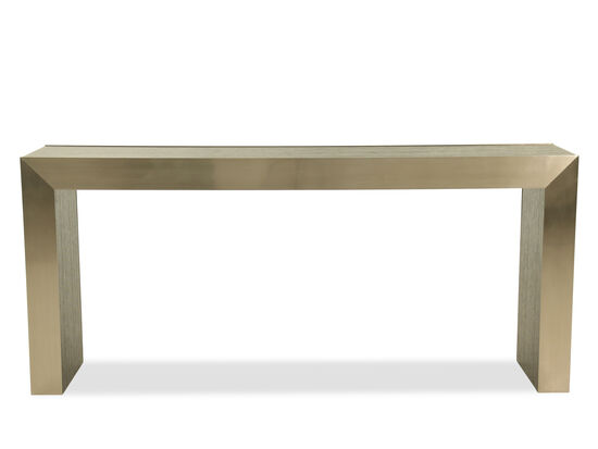 Casual Rectangular Console Table in Cerused Mink
