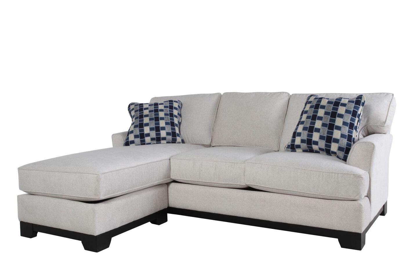 "Microfiber 82"" Hybrid Sofa In Cream"