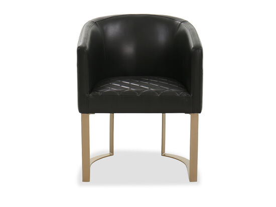 Barrel Back Casual Side Chair in Black