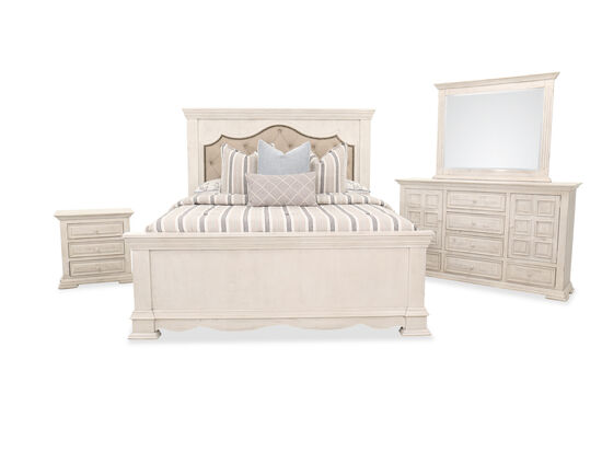 Four-Piece Casual Bed Suite in White