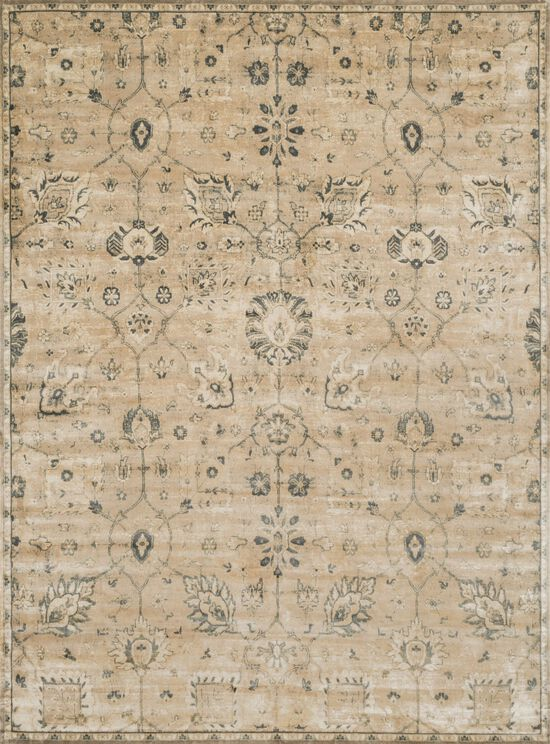 """Transitional 5'-0""""x7'-6"""" Rug in Sand/Charcoal"""