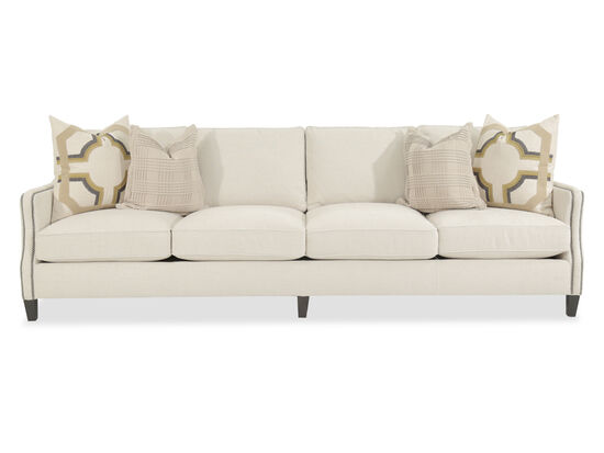 Nailhead-Accented Sofa in Cream