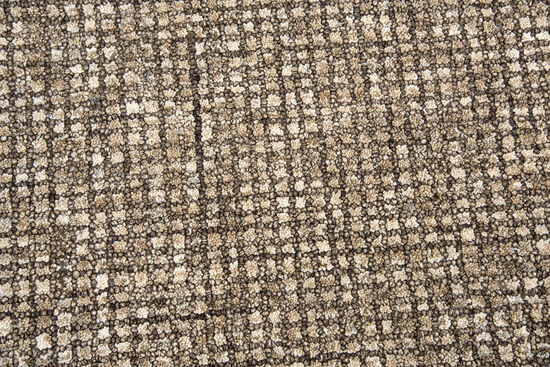 """Casual/Solid Hand-Tufted 2'6"""" x 8' Rectangle Rug in Brown"""