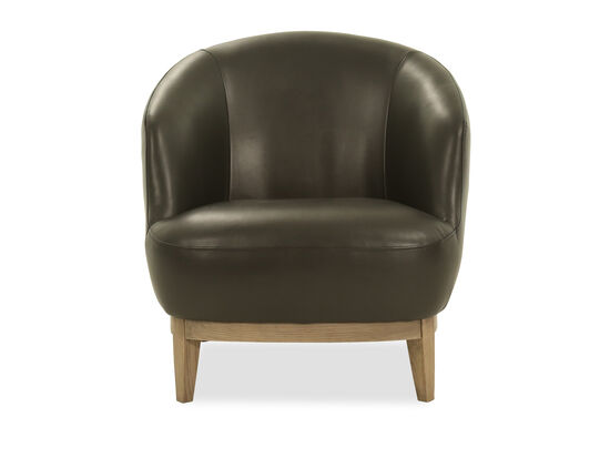 Casual Leather Chair in Black