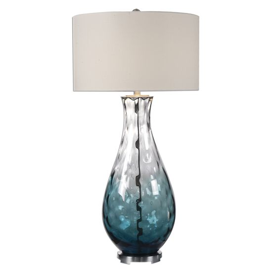 Water Glass Lamp in Blue Ombre