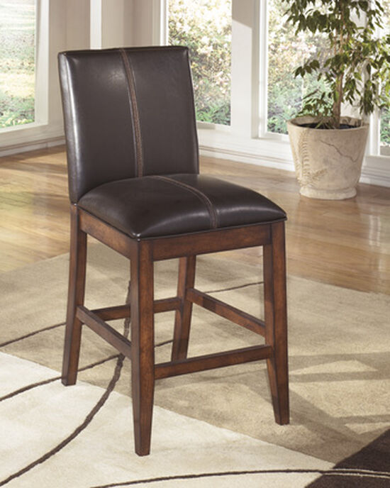 """Casual 40"""" Armless Bar Stool in Burnished Dark Brown"""