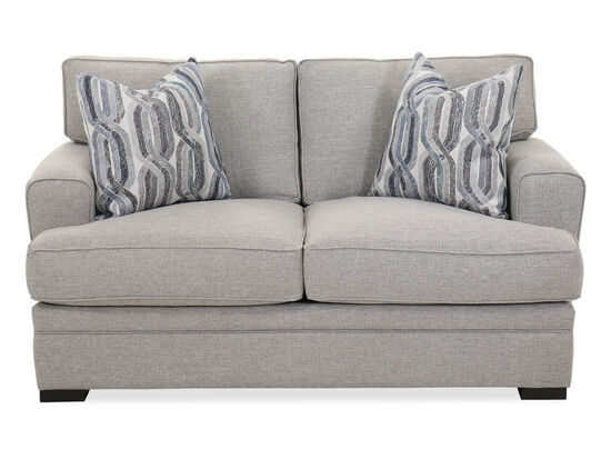 """66"""" Casual Two-Cushion Loveseat in Gray"""